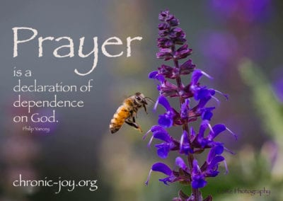 Prayer is a declaration of dependence on God.