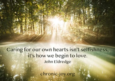 Caring for our own hearts isn't selfishness