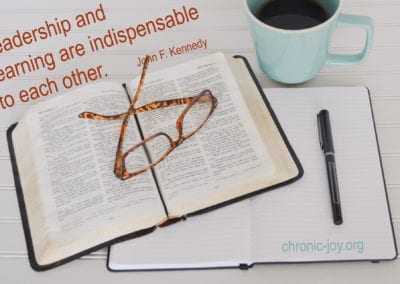 Leadership and learning are indispenable to each other,