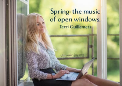 Spring: the music of open windows.