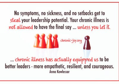Chronic illness has actually equipped us to be better leaders