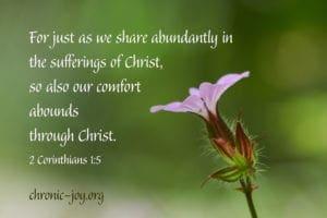 Sharing Christ's Comfort