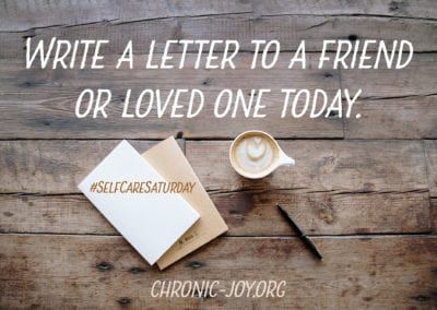 Write a letter to a loved one.