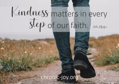 Kindness matters in every step of our faith.