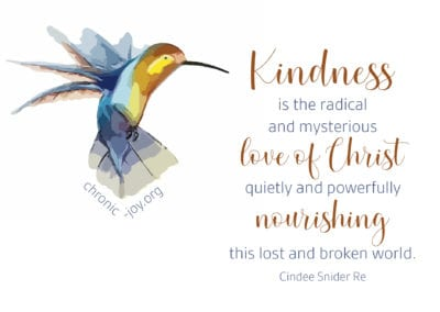 Kindness is the radical and mysterious love of Christ