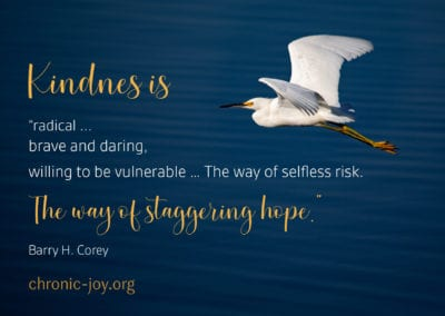 """Kindness is """"radical … brave and daring"""