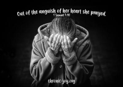 "Out of the anguish of her heart she prayed."" 1 Samuel 1:10"