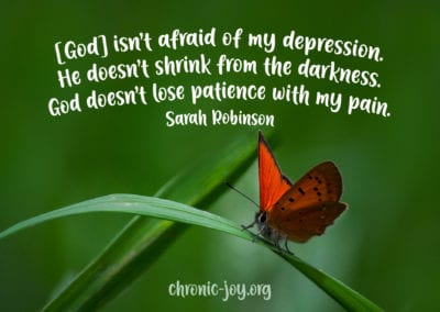 God isn't afraid of my depression.