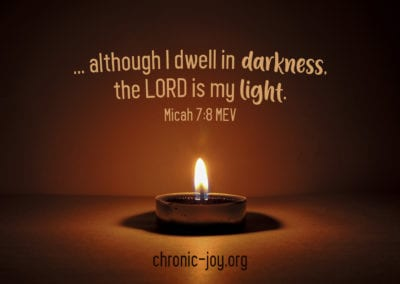 …although I dwell in darkness, the LORD is my light