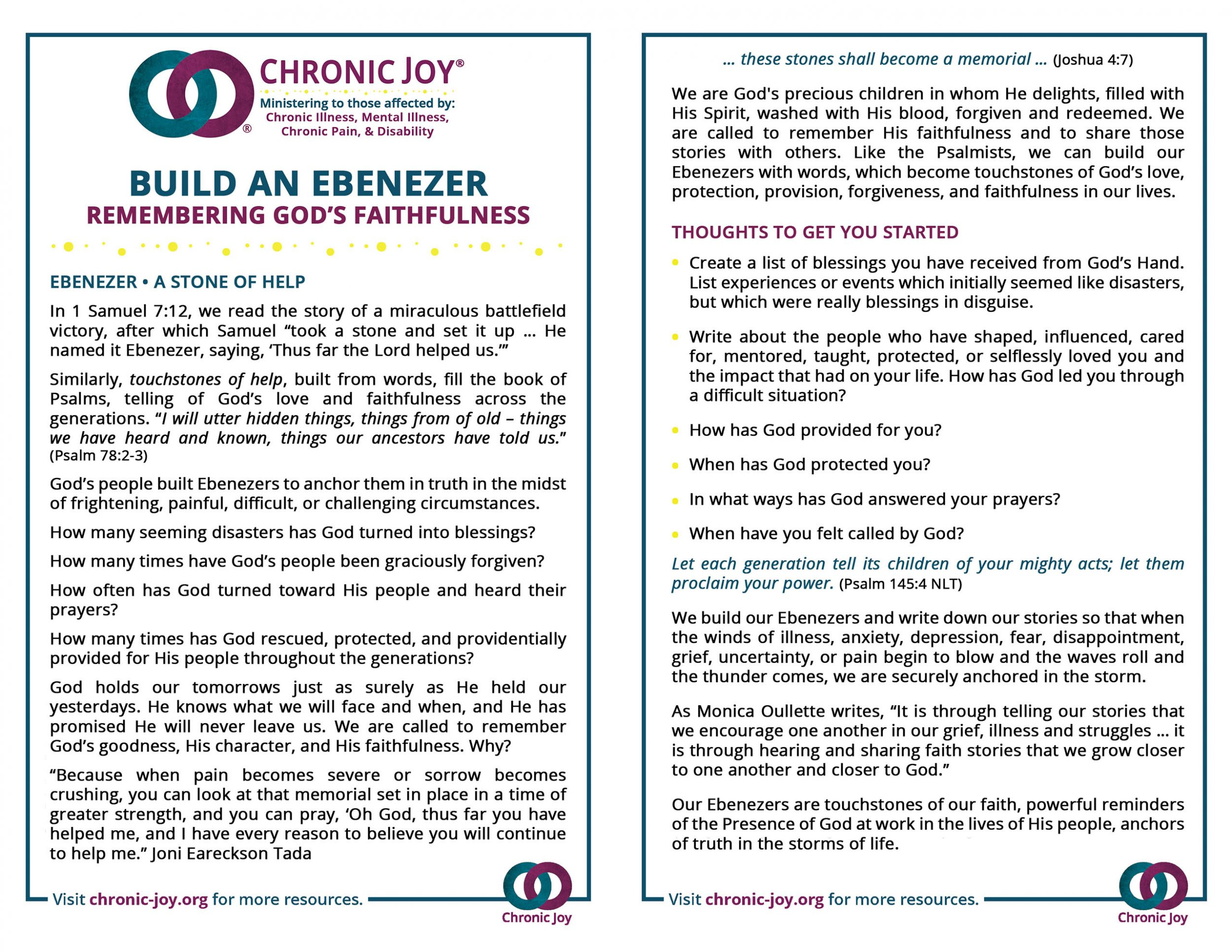 Build An Ebenezer