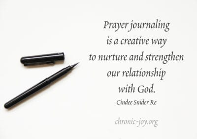 """""""Prayer journaling is a creative way to nurture and strengthen our relationship with God."""" Cindee Snider Re"""