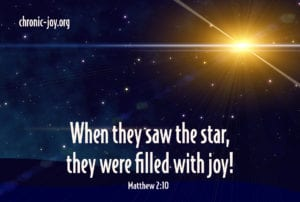 When they saw the star, they were filled with joy! Matthew 2:10