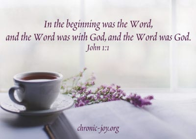 """""""In the beginning was the Word, and the Word was with God, and the Word was God."""" John 1:1"""