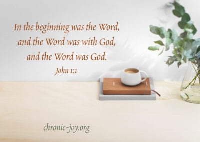 In the beginning was the Word, and the Word was with God, and the Word was God. (John 1:1)